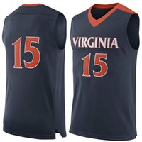 athletic basketball jerseys - 2016 NO Virginia Cavaliers Men College Basketball Jersey embroidery UVa Athletic Outdoor Apparel Mens Sport Jerseys Size S XL