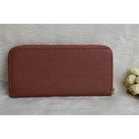 Wholesale New Fashion women brand wallets famous designer female wallet single zipper Cross pattern clutch multifunction purse For Iphone