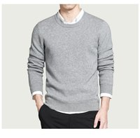 best wool sweaters - New Pure cotton sweaters men best style O neck mens sweaters Hot brand jersey pullover male autumn winter XL knitwear dress for man