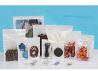 Precio de Bolsas de plástico para alimentos-Clear + white pearl Plastic Poly OPP embalaje embalaje al por menor paquetes de venta al por menor Paquete de plástico del PVC del alimento de la joyería muchos tamaño disponible