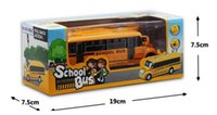 Wholesale Zinc Alloy School Bus Car Model Play Game Gift for Child For Baby Kids Toddlers