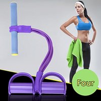 Wholesale Fitness Bands Yoga Resistance Bands Abdominal Tummy Trainer Foot Rally Rope Elastic Rope Hip Force Lose Weight