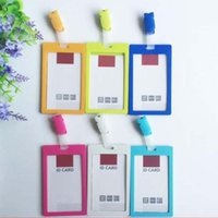 Wholesale 10 Business School Office Vertical Style Badge Holder With Clips Card Hospital ID Badge Card Holders Stationery