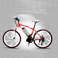 Wholesale 26 inch Speed W Magnesium Alloy Integrated Wheel Mountain Bike Electric Bike Electric Bicycle Li ion Battery Ebike