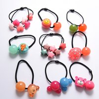 Wholesale Colorful Lovely Hair Rubber Bands Candy colors Hair Jewelry Children headdress Headwear Cute Hair ornaments JF008