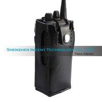 Wholesale 5 Hard Leather Carrying Case For Motorola Way Radio GP320 GP328 GP380 HT750