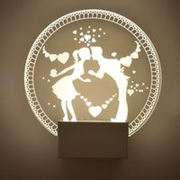 Wholesale 6W LED Wall Sconces Light Fixture Acrylic Decorative Lamp for Bedroom Living Room Balcony Lover corridor Warm White