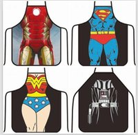 Wholesale Apron Star Wars aprons Spiderman Wonder women Anime Cartoon Character Series Kitchen Apron Funny Personality Cooking apron Christmas HG