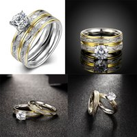 Wholesale Engagement Rings Charm Stainless Steel Rings New Arrivals Fashion Jewelry Couples Gilt Rings Wedding Brands Top Selling