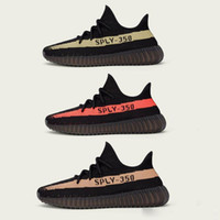 Wholesale Newest BOOST V2 Sply Gray BY9612 BY1605 Kanye West Black Red Copper Green Best Quality MEN Running Sneaker Shoes