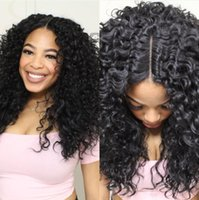 Wholesale New arriving affordable Simulation Human Hair front lace Wig Kinky curly for black women Brazilian Virgin hair wigs natural color