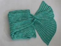 Wholesale Mermaid Tail Blankets Crochet Mermaid Blankets Mermaid Tail Sleeping Bags Sofa Blanket Cocoon Mattress Knit cm