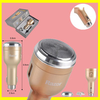 Wholesale 2 A Gold Multifunctional Razor Car Charger Safety Hammer Razor Universal USB Car Shaver Charger with retail box