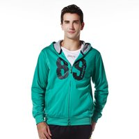 Wholesale Spring men s sports and leisure sweater cardigan hooded tracksuit jacket Running warm LWWT001