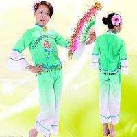Compra Estilos de ropa calientes-La venta caliente de los niños de la venta baila la danza / la danza del ventilador / la ropa de los niños de yangge La ropa china tradicional Jiangnan chino de la ropa libera compras