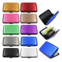 aluminium card holder - Aluminium Credit card wallet cases cards holder bank card case wallet Black Multi function card package colors available