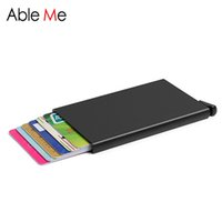 Wholesale High Quality Anti RFID NFC Metal Credit Card Holder Multifunction Automatic Aluminum Wallet Colorful Business Card Wallet Holder