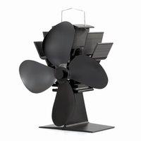 Wholesale Mini Wood Burning Stove Fan Blade Anodizing Aluminum Black Eco Friendly Stove Fan