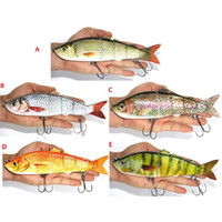Wholesale 8 quot g Outdoor Large Fishing Baits Bionic Bait Fishing Lures Bait Fishing Tackle Lure Minnow Bait Fish Hook Saltwater Hard Baits