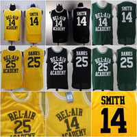 a852bd853  14 WILL SMITH Jersey Men BEL-AIR Academy Best Quality  25 CARLTON BANKS  The Fresh Prince of Bel Air Academy Basketball Jerseys ...