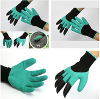 Wholesale New Rubber Polyester Builders Garden Work Genie Latex Gloves with Claws Quick easy way to Garden Digging Planting