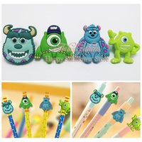best topper - Cute Monster University PVC Pencil Topper Pencil Cap Educational Supplies School Student Best DIY Gift Stationery Set