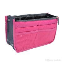 Wholesale Women Casual Travel Insert Handbag Purse Large Liner Tote Cosmetic Organizer Bag Storage Bags Best Makeup Bags