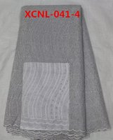 Wholesale yards Grey fabrics textile simple europe embroidered tulle fabric african fabrics for sale lace Sep