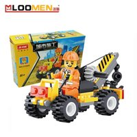 Wholesale Small Crane DIY Building Blocks Children Toy Educational Puzzle Construction Bricks Kids Jigsaw Gifts