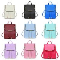backpacks college - New Preppy Style Backpacks Taiga PU Leather Cover Pocket Racksacks Fashion Leisure Girl School Bag College Backpack