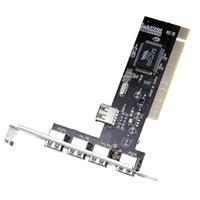 Wholesale 5 Port USB High Speed PCI Controller Card Adapter Hub External Internal