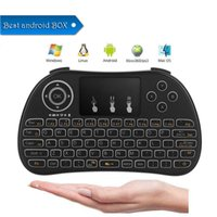 Télécommande pour tablette android France-P9 Wireless Keyboard 2.4G English Fly Air Mouse Télécommande Touchpad pour Smart Android TV Box Notebook Tablet Pc