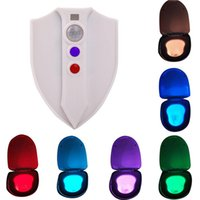 Wholesale Toilet Night Light by Diateklity Motion Activated with new UV C sterilize light Kills Mold Bacteria Germs and Viruses Waterproof Colors