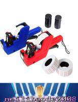 2pcs Étiqueteuse de prix MX-5500 + 20 rouleaux papier d'étiquette + 2 marqueur d'étiquette d'encre Machine d'outil de prix de machine de prix pour le marché de détail Super MYY