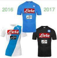 Wholesale 2016 New Naples home soccer jerseys Napoli blue football Jerseys Shirt for men HAMSIK L INSIGNE home away Shirt