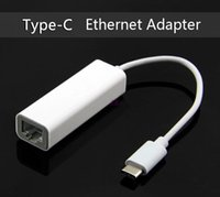 Wholesale USB C USB Type C RJ45 Ethernet Network Adapter For Macbook Air For Nokia N1 to use Wired Internet Cable White