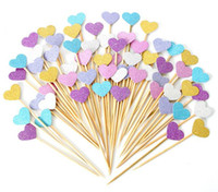 baby girl cupcakes - New Arrive Handmade Lovely Heart Cupcake Toppers Girl baby shower decorations Party Supplies Birthday Wedding Party Decoration