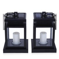battery candle lanterns - Solar Powered steel hand LED Outdoor Candle Lantern Hang Lamp Built in rechargeable Ni MH AA battery
