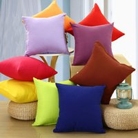 Wholesale Simple Square Coffee Home Fashion Throw Pillow Cases Decorative Cushion Cover Solid Pillowcases No Pillow Core