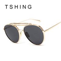 Man aviation pilots - Fashion Women Flat Top Pilot Sunglasses Retro Men Brand Designer Mirror Sun Glasses For Woman Man Aviation Driving Fishing UV400