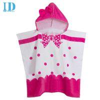 baby beach towel poncho - IDGIRL Cartoon style cotton hooded baby bathrobe infant bath robe beach towel children s cloak poncho YE0028