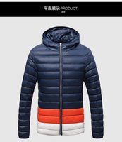 Wholesale New Fashion Soild Parkas Mens Jackets And Coats Punk Thick Warm Winter Ultralight Duck Down Jackets Men XL face Brand