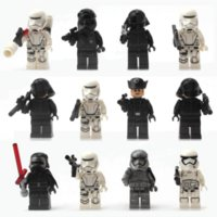 Wholesale 12Pcs Super Heroes Star Wars Rogue One Jawa The Force Awakens Kylo Ren Captain Phasma Minifigures Building Blocks Figures Toys
