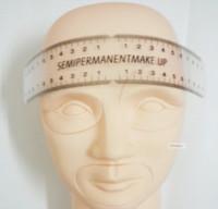 Wholesale pc Professional Eyebrows Permanent Make Ruler measure eyebrow length munsu portable and not easy boken