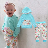 Wholesale 2PCS Newborn Infant Baby Boy Girls Clothes Hooded T shirt Tops Pants Outfits Set