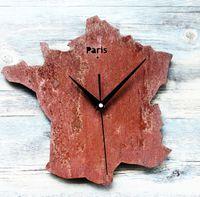 Wholesale The Old Clock Retro Map of Paris Creative Fashion Map Wall Clock