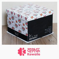 Wholesale 6 inch birthday cake box today is my birthday three in a cake