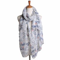 Wholesale Best Deal New Women Lady Spring Fresh Soft Long Cute Bicycle Pattern Print Scarf Wraps Shawl Soft Scarves Gift PC