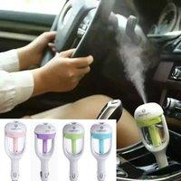 Wholesale Car Plug Air Humidifier Purifier NanVehicular essential oil ultrasonic humidifiers Aroma mist car fragrance Diffuser
