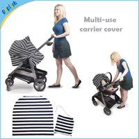 baby cart covers - 4 in Multi Use Fashion Blend Kniting Stretchy Stripe Kids Shopping Cart Cover Baby Carrier Cover